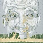 verdade - anno 2012 - smalto su tessuto - 180x120 cm