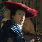 Vermeer, Ragazza con il cappello rosso, 1665