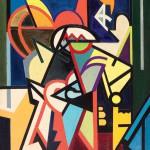 02 - Emilio Vedova, Il Toro aveva  il cuore in alto, 1947-51, olio su tela, cm 132 x 95
