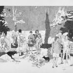 DARIO MOLINARO - Illusion, 2012, tecnica mista su carta, 60x42cm