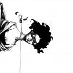 Afarin Sajedi Fluid graphite on paper