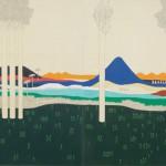 14 Irene Balia, Hortus conclusus, 2012, olio e grafite su 4 tele, 120x400cm