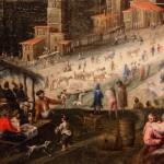 Marten van Valkenborch, e Hendrick van Cleve, La torre di babele, dettaglio