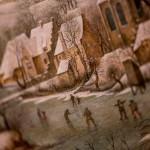 Pieter Brueghel il Giovane, Trappola per uccelli, dettaglio