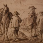 Jan Brueghel il Giovane, Incontro tra viaggiatori, dettaglio