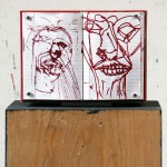 MarcoBongiorn, Untitled_Red Sketchbook, inchiostro su taccuino, acrilico e legno, cm 52 x 30 x 18, 2013, courtesy of the artist