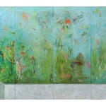 3. Harry Adams, 2014, Kingfisher in the impossible garden, oil characoal and beeswax encaustic on cotton covered boards