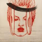 Omar Galliani_Tra oriente e occidente_2006_pigmento e inchiostro su carta cinese_cm 200x200_opera realizzata in collaborazione con Pan Luscheng (2)