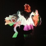 The Wild Pierrot staring at the Danse Royale video, Installation view. Operativa Arte Contemporanea, Rome