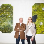 Otto E. Wiesenthal e Saskia Wiesenthal. Grass paintings by Alex Ruthner