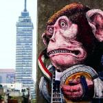 Dipinto murale per Manifesto MX, Città del Messico 2015