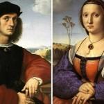 Raffaello, coniugi Doni, Sforza