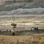Spiaggia di Scheveningen durante un temporale