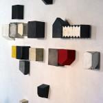 Appunti, 2016. Emulsione,  tempera e carta su tavola, dimensioni variabili. (4)