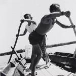 Pietro Donzelli, Il traghetto di Forti per L' isola Camerini, 1953