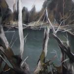 Klavs Loris_Beaver Pond_2015_tecnica mista_cm 280 x 270