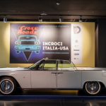 Crossroads, installation view, Lincoln continental