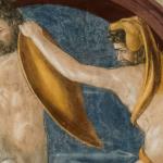Affresco Ercole e il centauro Nesso, particolare dopo il restauro