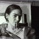 Frida Biting Her Necklace, photo Lucienne Blosh