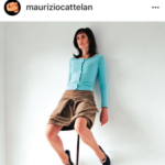 Maurizio Cattelan, The single post Instagram