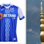 CSU Craiova's new kit and Constantin Brancusi's Endless Column  CSU Craiova's new kit and Constantin Brancusi's Endless Column