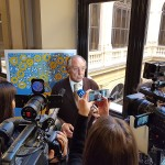 Presidente Emanuele durante le interviste
