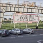 Fabrizio Bellomo, ABBI CURA DELLA MACCHINA SU CUI LAVORI è IL TUO PANE!, 2012, courtesy l'artista e Museo di Fotografia Contemporanea