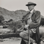Frank Lloyd Wright at Taliesin West   The Frank Lloyd Wright Foundation Archives (The Museum of Modern Art | Avery Architectural & Fine Arts Library, Columbia University, New York)