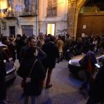 """Opening L'Ascensore, Diego Miguel Mirabella, Drawing stage/ La bocca arsa,  perfomance con Sergio """"Guna"""" Cammelleri, L'Ascensore Palermo 2018, photo Francesco Cuttitta"""