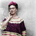 Leo Matiz, Frida with a hand on her cheek, 1943