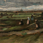 Vincet Van Gogh,  Raccommodeuses de filets dans les dunes, 1882