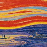 Edvard-Munch-Scream-red-sky-and-sail-boat