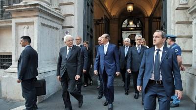 Mattarella in visita alla Fondazione Roma e alla Fondazione Terzo Pilastro accompagnato dal Prof. Emanuele
