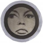 Gerald Laing Preparatory collage for Brigitte Bardot, 1963 circa. Stampa serigrafica, collage di media misti su carta, cm 30,5 (di diametro). Collezione privata. Fotografia di Pietro Notarianni © The Gerald Laing Estate
