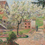 Camille Pisarro, alberi di prugne in fiore, 1894