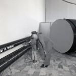 1957. Presentazioni di tubi in gomma realizzati in Moplen