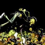 Illustrazione per locandina concerti Coll'Hardcore, Messina, 2012, Courtesy Zerocalcare