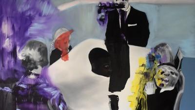 White Prayer oil on canvas 100 X 100 cm 2018