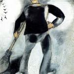 10. Lo spazzino e gli uccelli, Chagall