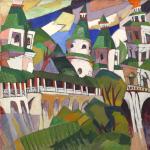 5.Lentulov, Paesaggio. Chiese. (Nuova Gerusalemme)