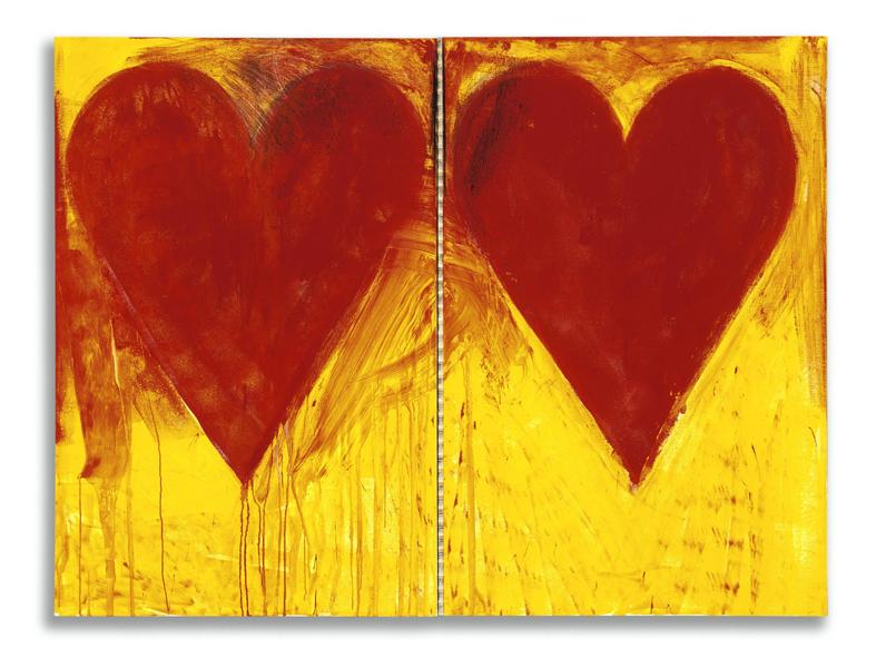 Jim Dine, Blue Sun, 2008, acrilico su tela, cm 150 x 202