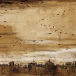 Piero Pizzi Cannella, Veduta, 2012, tecnica mista su tela, cm 70 x 100