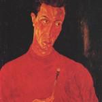 Autoritratto in rosso, 1942, olio su tela, 68,5 x 54 cm