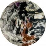 09 - Tondo non dove, 1986, olio su legno, diam. 280 cm