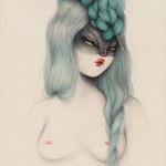 Green-Grappe-Hair_56x76-cm_acrylic-and-pencil-on-paper-r