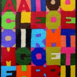 Alighiero_Boetti__A come Alighiero  B come Boetti_1988ricamo su tela_cm.24x20