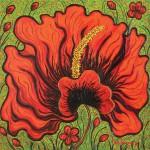 Dance (Hibiscus) (Garden-La Fleur du Cap)_2011_olio su tela_cm 195x195