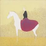 05 Irene Balia, Io a cavallo, 2012, olio e grafite su tela, 50x50cm