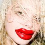 Terry Richardson - Sky Ferreira wearing plastic red lips #3 -  www.terrysdiary.com