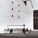 Pepi Merisio, La partita all'oratorio di Corso XXII Marzo a Milano, 1989, Stampa ai sali d'argento, modern print, cm 25 x 37